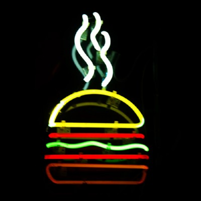 experience new york-hamburger insigne neon du burger joint