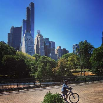 Bike riding in central park New York